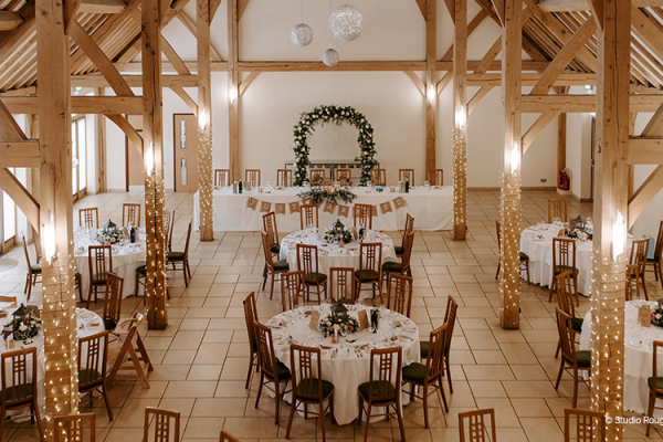 Wedding Breakfast at Rivervale Barn | Wedding Venues Hampshire