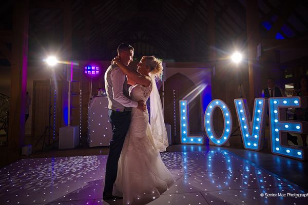 Dancing at Rivervale Barn | Wedding venues Hampshire