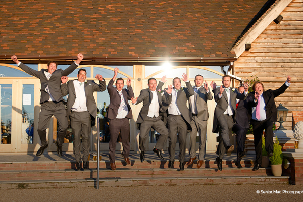 The groomsmen at Rivervale Barn