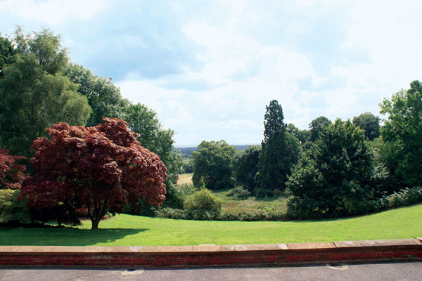 The beautiful grounds and views from Robert Denholm House wedding venue in Surrey | CHWV