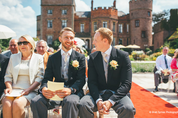 An outdoor wedding ceremony at Rowton Castle wedding venue in Shropshire | CHWV
