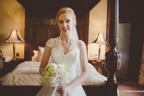 A bride all ready for her big day at Rowton Castle wedding venue in Shropshire | CHWV