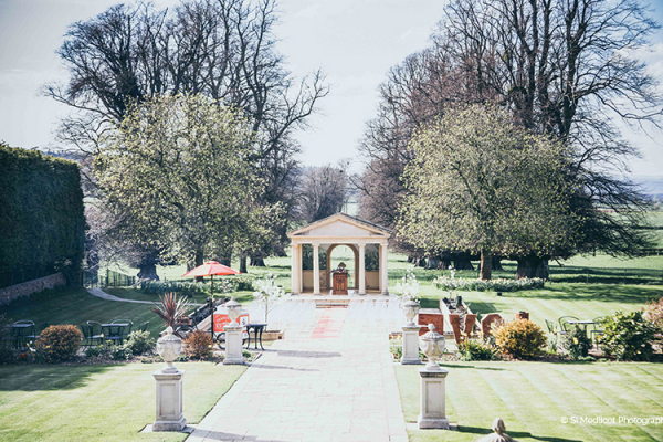 The beautiful gardens at Rowton Castle wedding venue in Shropshire | CHWV