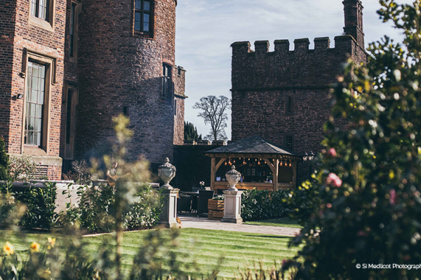 The beautiful gardens and grounds at Rowton Castle wedding venue in Shropshire | CHWV