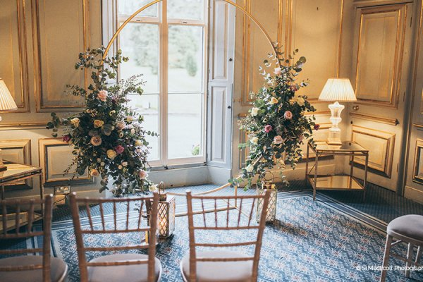An intimate wedding ceremony at Rowton Castle wedding venue in Shropshire | CHWV