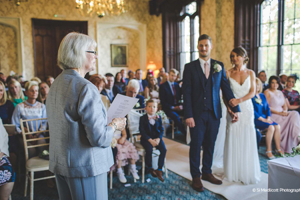 A romantic wedding ceremony at Rowton Castle wedding venue in Shropshire | CHWV