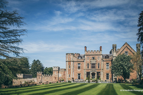 The well kept lawn at the back of Rowton Castle wedding venue in Shropshire | CHWV
