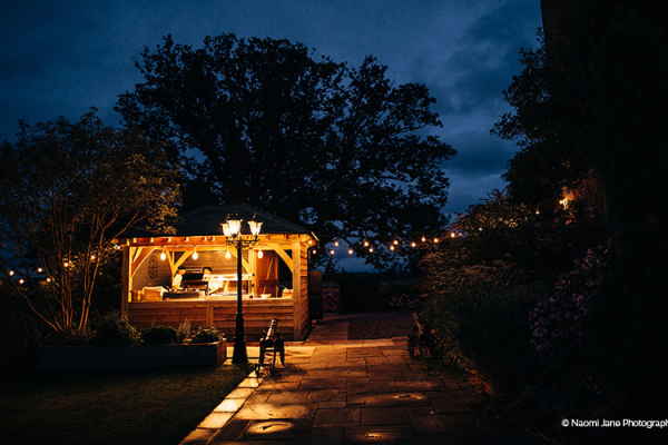 Evening wedding food at Rowton Castle wedding venue in Shropshire | CHWV
