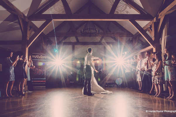 First Dance at Sandhole Oak Barn in Cheshire