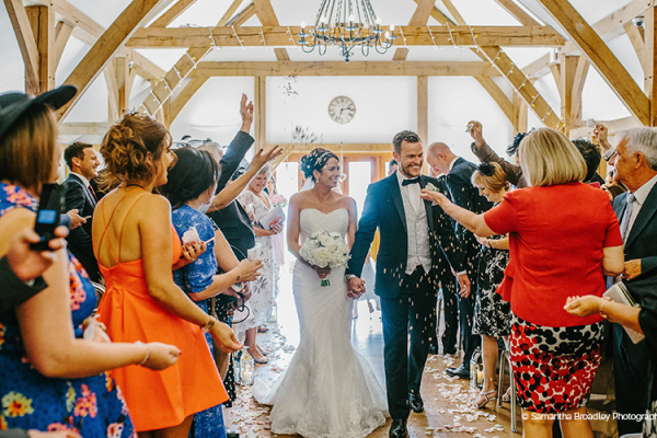 Just Married at Sandhole Oak Barn | Wedding Venues Cheshire