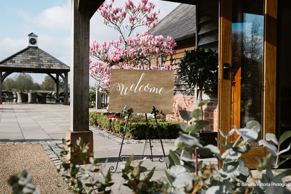 The Barn Entrance at Sandhole Oak Barn | Wedding Venues Cheshire