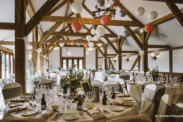 Wedding Breakfast at Sandhole Oak Barn | Wedding Venues Cheshire