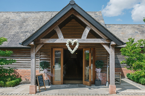 The Entrance to Sandhole Oak Barn | Wedding Venues Cheshire