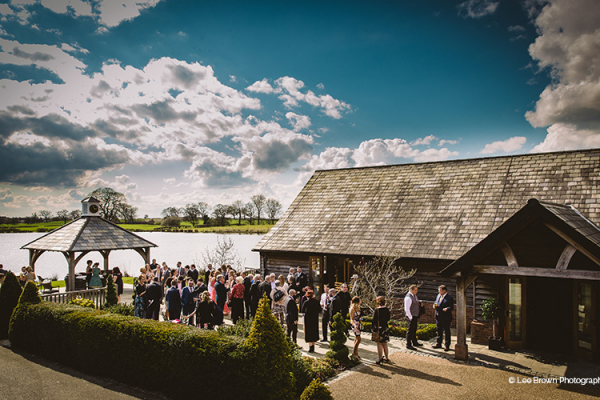 Drinks Reception at Sandhole Oak Barn | Wedding Venues Cheshire