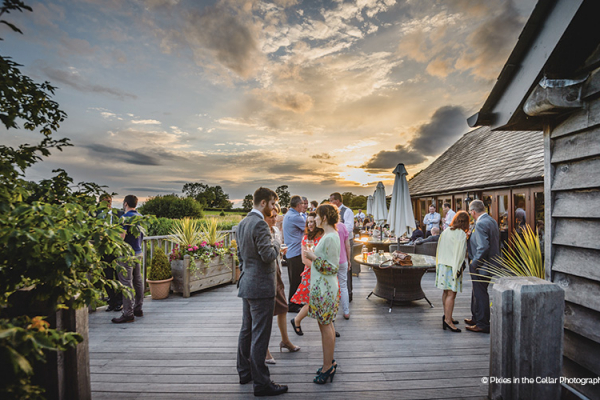 Outdoor Drinks Reception at Sandhole Oak Barn | Wedding Venues Cheshire