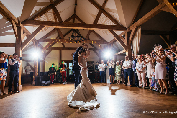 First Dance at Sandhole Oak Barn | Wedding Venues Cheshire