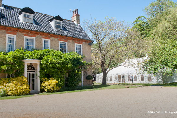 Sedgeford Hall and marquee wedding venue in Norfolk