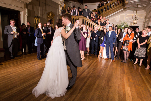 Romantic first dance at Skinners Hall wedding venue in London | CHWV