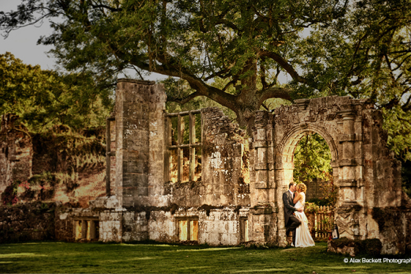 The ruins at Slaugham Place wedding venue