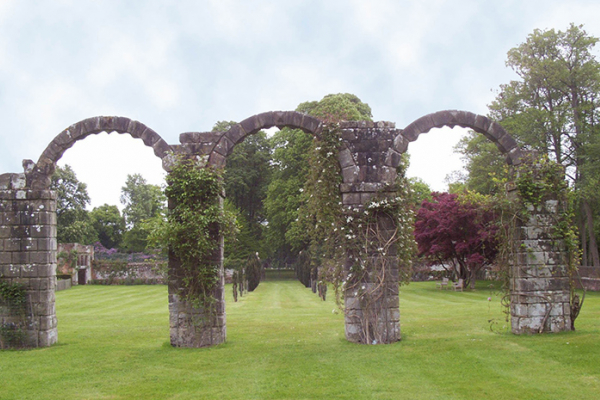 The ruins and grounds at Slaugham Place wedding venue