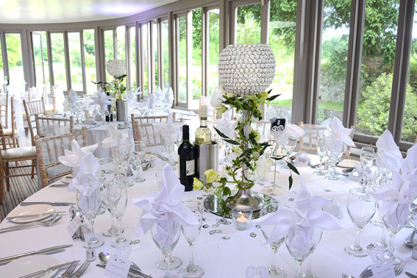 Wedding Breakfast at Southdowns Manor | West Sussex wedding venues