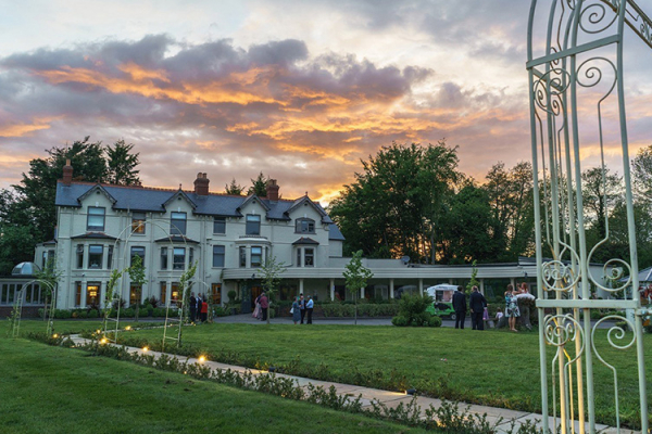The grounds at dusk at Southdowns Manor wedding venue in West Sussex | CHWV