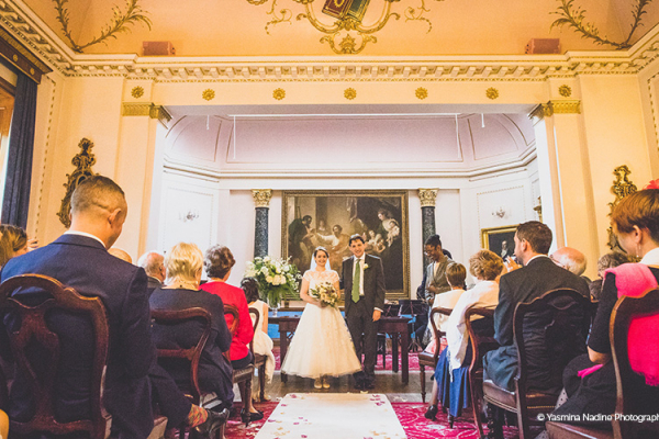 A wedding ceremony at Stationers' Hall and Garden wedding venue in London | CHWV