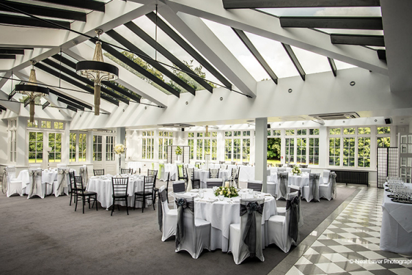 Set up for a wedding breakfast at Swynford Manor wedding venue in Cambridgeshire | CHWV