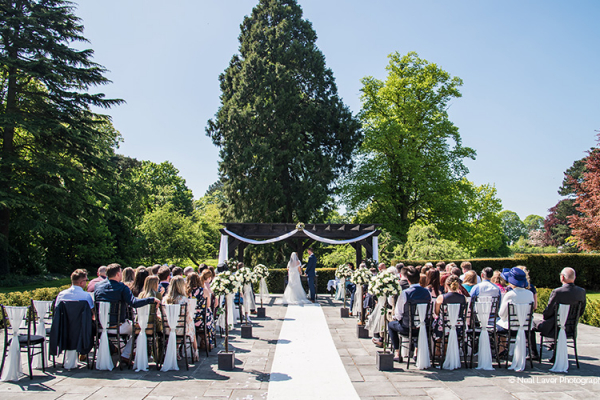 Outdoor Ceremony at Swynford Manor | Wedding Venues Cambridgeshire