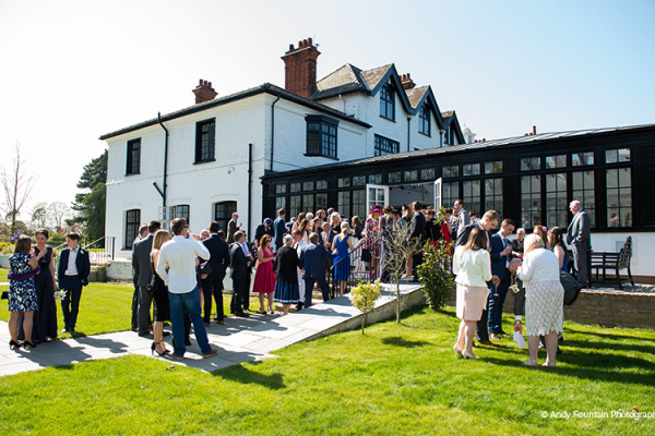 Drinks Reception at Swynford Manor | Wedding Venues Cambridgeshire