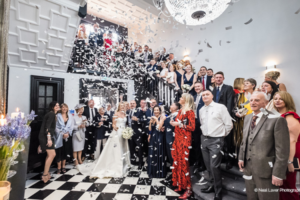 Confetti Shot at Swynford Manor | Wedding Venues Cambridgeshire