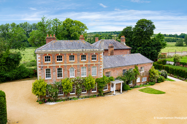 An Aerial View of Syrencot | Wedding Venues Wiltshire