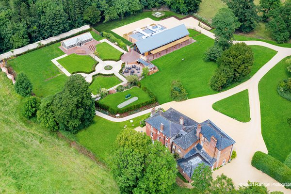 An Aerial View of the Grounds at Syrencot | Wedding Venues Wiltshire