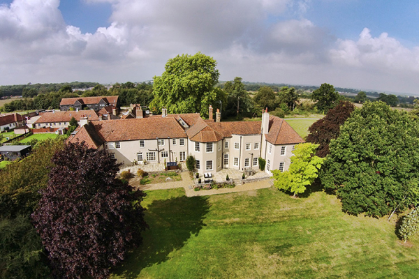 An aerial shot of That Amazing Place wedding venue in Essex | CHWV