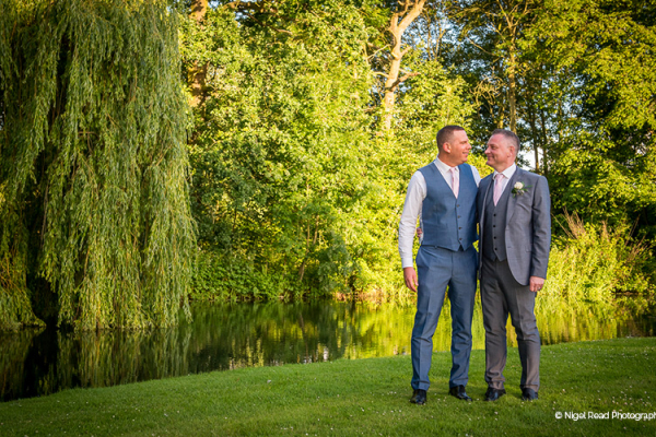 A stroll by the lake at That Amazing Place wedding venue in Essex | CHWV