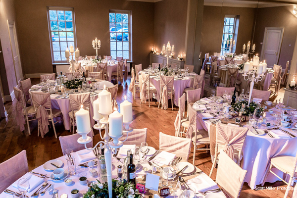 Set up for a wedding breakfast at That Amazing Place wedding venue in Essex | CHWV