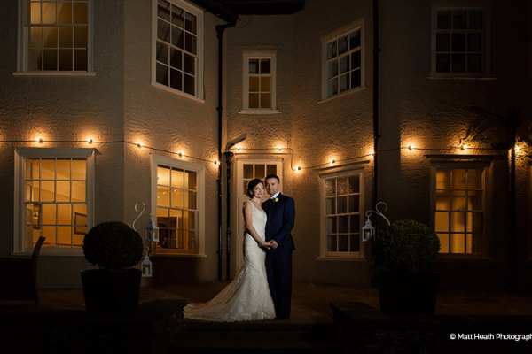 That Amazing Place wedding venue in Essex lit up in the evening | CHWV