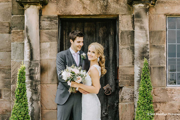 Happy couple having a special moment at The Ashes barn wedding venue in Staffordshire | CHWV