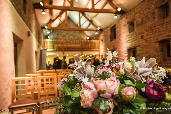 Set up for a ceremony at The Ashes barn wedding venue in Staffordshire | CHWV