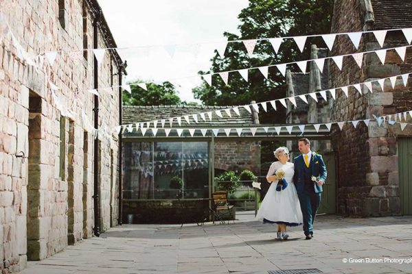 Happy couple taking a moment at The Ashes barn wedding venue in Staffordshire | CHWV
