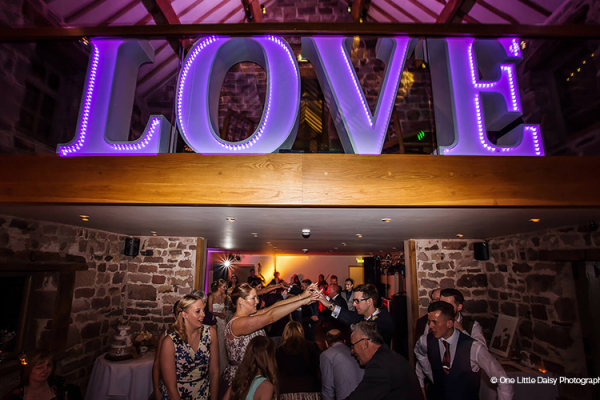 An evening wedding reception at The Ashes barn wedding venue in Staffordshire | CHWV