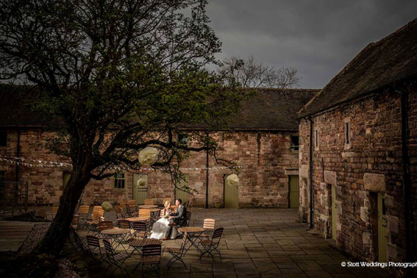 A happy couple taking a moment at The Ashes barn wedding venue in Staffordshire | CHWV
