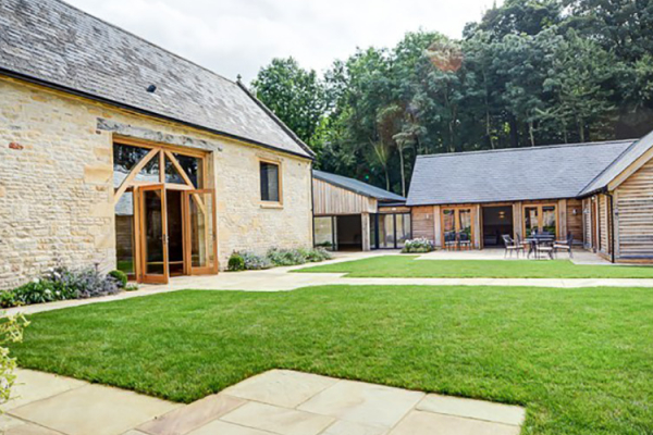 The Courtyard at The Barn at Upcote wedding venue in Gloucestershire | CHWV