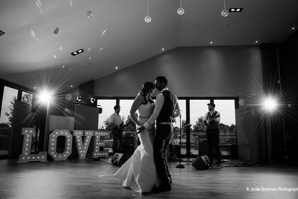 A romantic first dance at The Boat House garden wedding venue in Staffordshire | CHWV