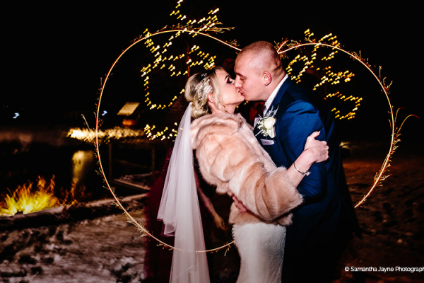 Sparkler moment at The Boat House garden wedding venue in Staffordshire | CHWV