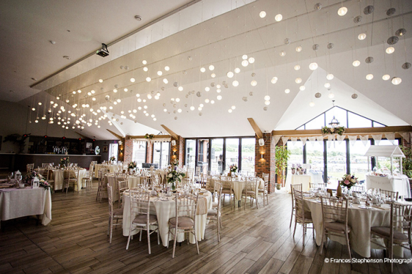 Set up for a wedding breakfast at The Boat House garden wedding venue in Staffordshire | CHWV