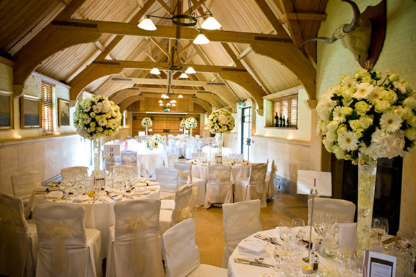 A Wedding Reception Set Up At The Dairy Waddesdon Manor In Buckinghamshire
