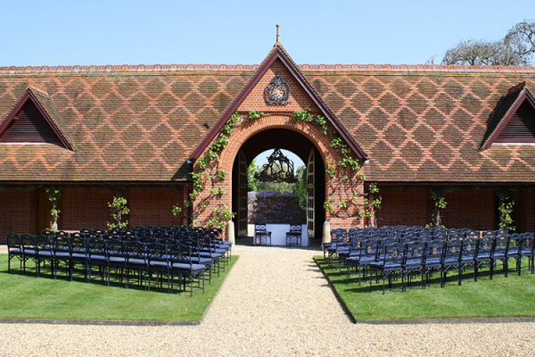 Outdoor Ceremony at The Dairy, Waddesdon Manor | Wedding Venues Buckinghamshire