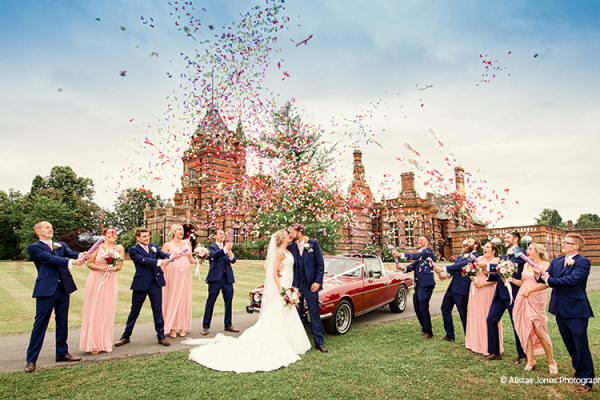 Confetti elebrations in the beautiful grounds at The Elvetham wedding venue in Hampshire | CHWV