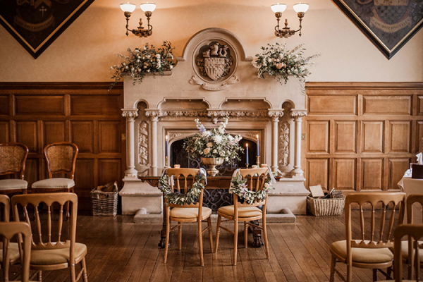 Set up for a wedding ceremony at The Elvetham country house wedding venue in Hampshire | CHWV